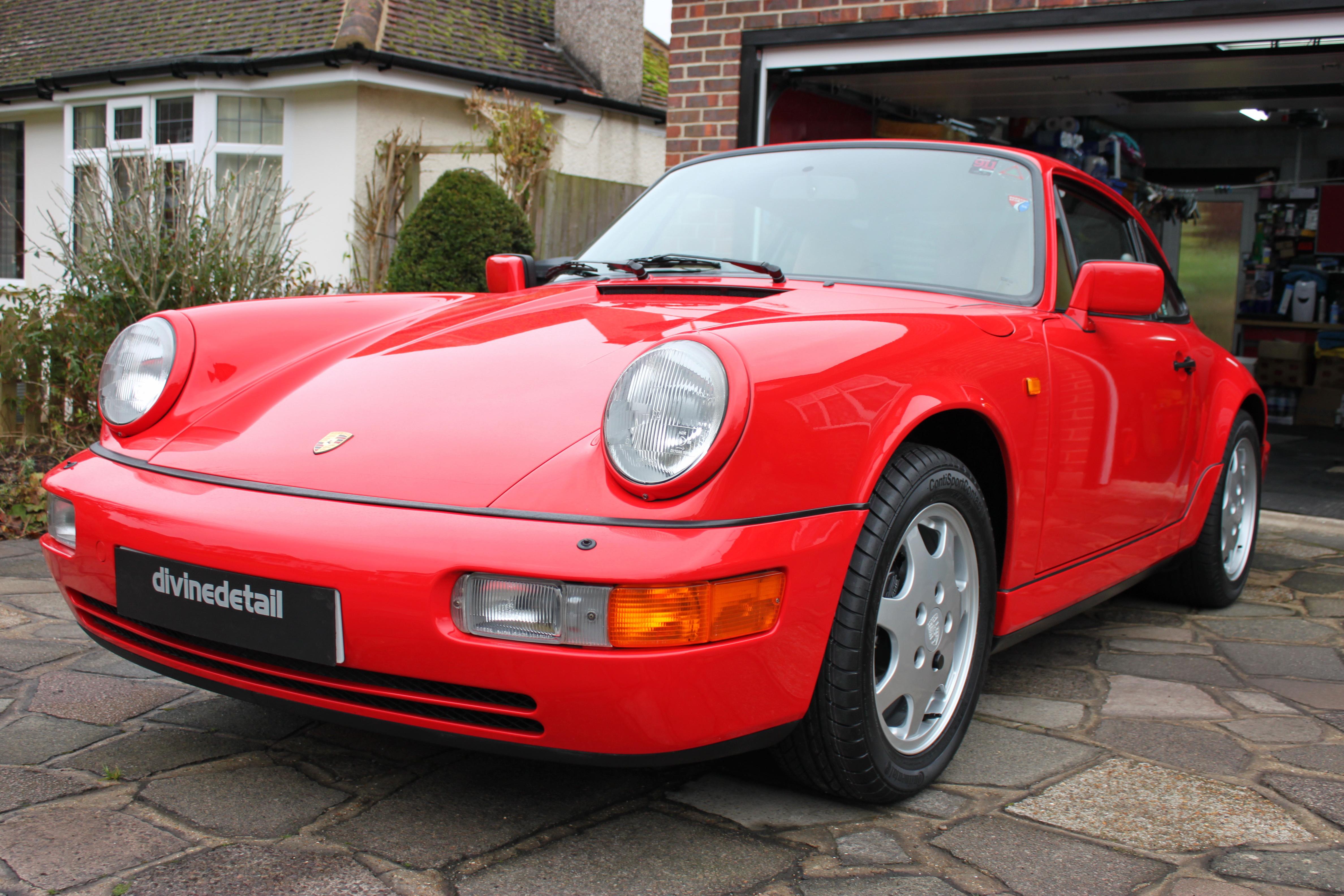 Guards red Porsche 964